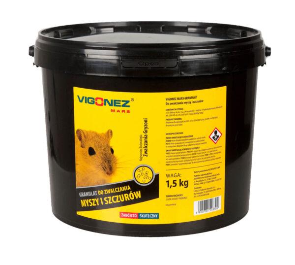 Granulat do zwalczania myszy i szczurów 1,5kg - zestaw